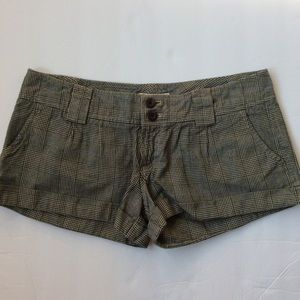 American Eagle Outfitters plaid shorts y2k